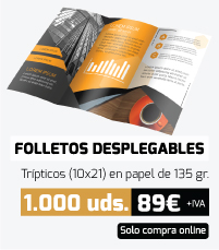 Oferta folletos desplegables